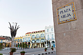 Plaza Vieja in the early morning, historic town, center, old town, Habana Vieja,  family travel to Cuba, holiday, time-out, adventure, Havana, Cuba, Caribbean island