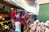Vegetable stand, in Habana Vieja in the early morning, historic town, center, old town, family travel to Cuba, holiday, time-out, adventure, Havana, Cuba, Caribbean island