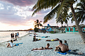 beach at Playa Larga at sunset, family travel to Cuba, parental leave, holiday, time-out, adventure, Playa Larga, bay of pigs, Cuba, Caribbean island