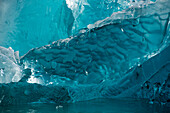 Detail of a large iceberg of translucent ice floating in front of the Sawywer Glacier, Tracy Arm, Stephens Passage, Tongass National Forest, Tracy Arm-Fords Terror Wilderness, Alasksa, USA, North America
