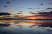 Sunrise above Tasman Sea, Hump Ridge, Hump Ridge Track, Fiordlands National Park, UNESCO world heritage Te Wahipounamu, Southland, South island, New Zealand