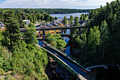 View from the viaduct in Håverud on Dalsland Canal, Sweden