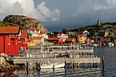 Touristen- und Fischerdorf , Fjällbacka, Bohuslän, Schweden