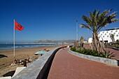 Promenade at the beach in Agadir, Morocco