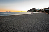 sunset at the beach, Agia Galini, Crete, Greece, Europe