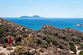 Bucht, Küstenlandschaft mit Meerblick, Agia Galini, Kreta, Griechenland