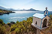 Küstenlandschaft mit Blick zum Meer, Küste, Landschaft, Plakias, Kreta, Griechenland, Europa