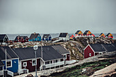 View over Sisimiut, greenland, arctic.