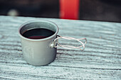 A cup of coffee, greenland, arctic.