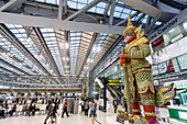 New Suvarnabhumi Airport , New Hub of South East Asia , Huge Statue Guard, Statue, Bangkok, Asia