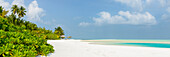 Dream beach on Cocoa Island, Maafushi, Maledives