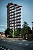single tall building, Belfast, Northern Ireland, United Kingdom, Europe