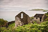 deserted and decayed stone house, Slea Head Viewpoint, Dingle Peninsula, Slea Head Drive, County Kerry, Ireland, Wild Atlantic Way, Europe