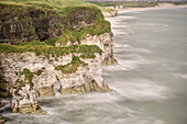 cliffs at Dunluce Castle, Northern Ireland, United Kingdom, Europe
