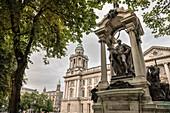 statue at Belfast City Hall, Northern Ireland, United Kingdom, Europe