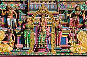 Hindu temple in the rue Jacques Prévert, La Possession, Reunion, France