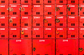 Old post boxes in the Historical Museum, Hong Kong, China, Asia