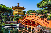 The Buddhist Temple Pavilion of Absolute Perfection at Nan Lian Garden, Hong Kong, China, Asia