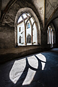 The cloister in the original Dominican monastery in the old town, Bolzano, South Tyrol, Alto Adige, Italy