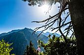 The Zillertal Alps above the Schlegeisspeicher reservoir, Ginzling, Zillertal, Tyrol, Austria