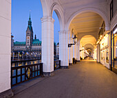 Alsterakaden, Rathaus,  Hamburg-Center, Hamburg, northern Germany, Germany