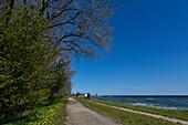 people walking near beach of  Baltic Sea, Kellenhusen,  Schleswig Holstein, Germany