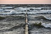 waves on Baltic Sea, Kellenhusen,  Schleswig Holstein, Germany