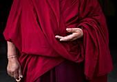 Tibetan buddhist nun in Labrang nunnery, Gansu province, Labrang, China.