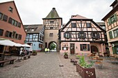 Turckheim picturesque village in Alsace France on May 14, 2016.