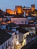 View over town. Historic small town Obidos with a medieval old town, a tourist attraction north of Lisboa Europe, Southern Europe, Portugal.