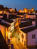 Historic small town Obidos with a medieval old town, a tourist attraction north of Lisboa Europe, Southern Europe, Portugal.