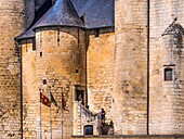 France. Poitou Charente. Middle Age castle,XII_XIVc., at Niort.