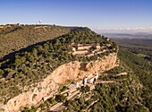 Sanctuaries of Gracia and Sant Honorat, Puig de Randa, Algaida, Mallorca, balearic islands, spain, europe.
