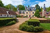 Troussay, Castle and Gardens, The smallest Castle in the Loire Valley, Chateau de Troussay, Le plus petit des Chateaux de la Loire, Cheverny, Loire et Cher, Pays de la Loire, Loire Valley, UNESCO World Heritage Site, France.