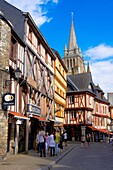 Vannes, City, Old Town and medieval houses, Morbihan, Bretagne, Brittany, France, Europe..