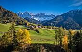 Santa Maddalena, Funes Valley, Trentino Alto Adige, Italy.