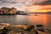 Boccadasse, Province of Genoa, Liguria, Italy, Europe.