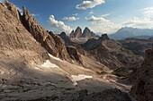 Cadin di San Candido, Dolomites of Sesto Natural Park, South Tyrol, Bolzano, Italy.