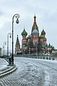 Russia, Moscow, Red Square, St. Basil's Cathedral.