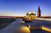 Europe, Italy, Veneto. The Church of the Blessed Virgin of the Angel on the Caorle seafront.