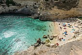 Santa Cesarea Terme, Porto Miggiano, province of Lecce, Salento, Apulia, Italy. The beautiful bay of Porto Miggiano.