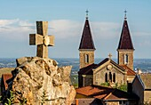 Church of Saint Joseph in Beaujolais, Beaujolais, Rhône department, France, Europe.