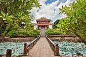 Minh Lau Pavilion (Pavilion of Light) at the Tomb of Minh Mang (Hieu Tomb). Hue, Vietnam.