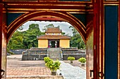 Hien Duc Gate at the Tomb of Minh Mang (Hieu Tomb). Hue, Vietnam.