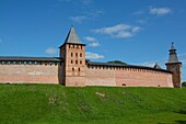 Kremlin Wall with Towers, UNESCO World Heritage Site, Veliky Novgorod, Novgorod Oblast, Russian Federation