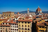 Cityscape of Florence, Italy, with the Cathedral in the background