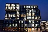 Modern office architecture in HafenCity, Hamburg, Germany.