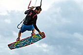Professional Kitesurfer Ben Jopling at Veterans Memorial Park - Little Duck Key, Florida, USA.