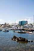 BERMUDA. Hamilton Parish. A view of boats in the Hamilton Harbour.