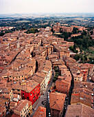 ITALY, Siena, elevated view of townscape